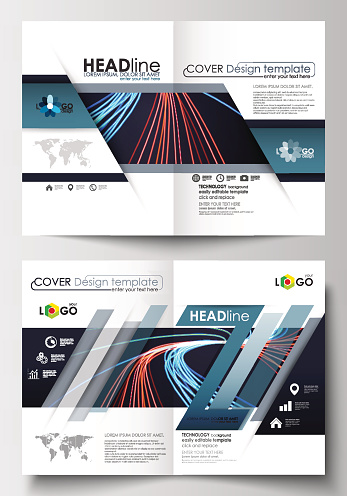 Templates for brochure, magazine, flyer, booklet or report. Cover template