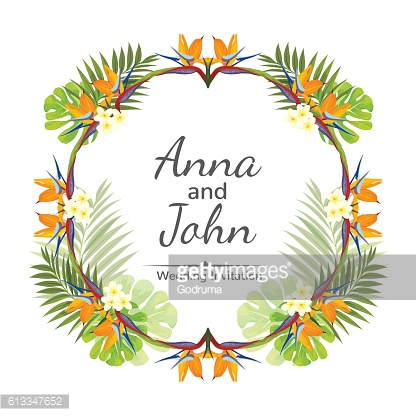 Wedding invitation ornament for the card. Vector illustration.