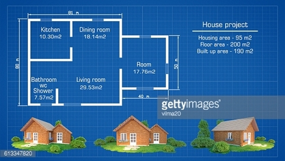 House plan  with  3d house plan illustration