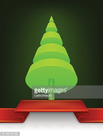 abstract christmas tree cone design