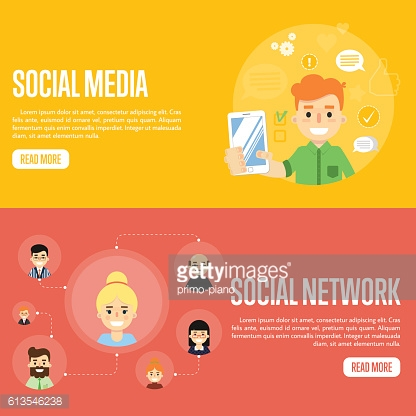 Social media network website templates