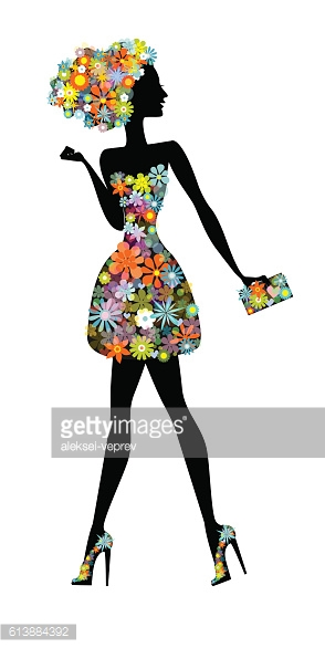 flower girl - a beautiful woman with perfume