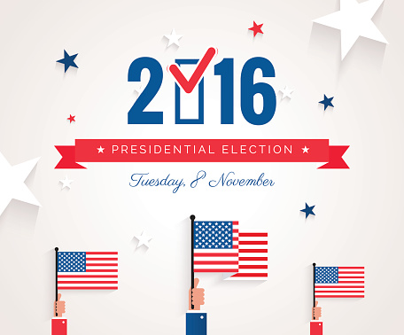 Presidential election banner background.