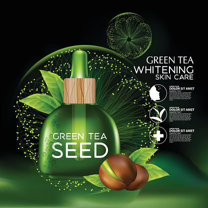 Green tea seed Oil Skin Care Cosmetic.