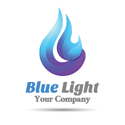 Flame Blue logo template. Vector business icon. Corporate branding identity