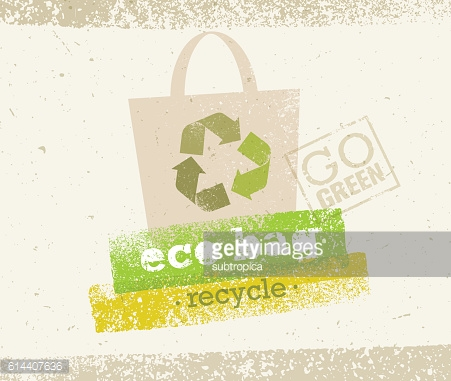 Become Green Now Motivation Eco Print Concept