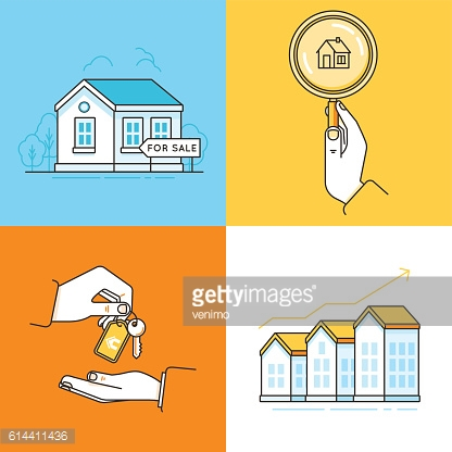 Real estate concepts - houses for sale