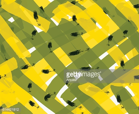 Artistic color brushed yellow green texture with black marks