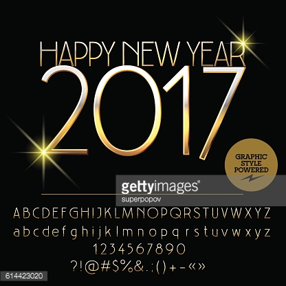 Vector exclusive Happy New Year 2017 greeting