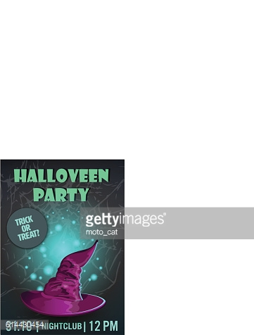 Halloween party poster,flyer,Vector illustration.trick or treat