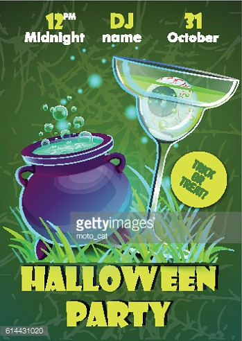 Halloween party poster. banner,flyer,Vector illustration