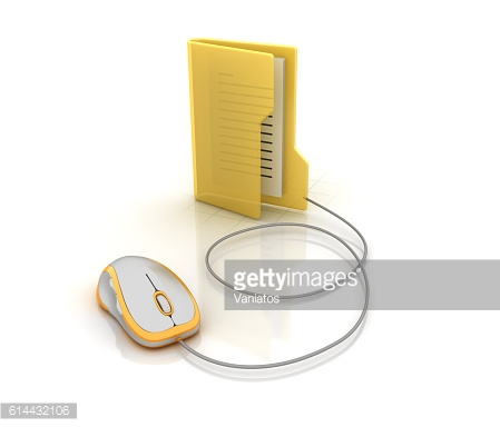 Computer Folder  with Computer Mouse