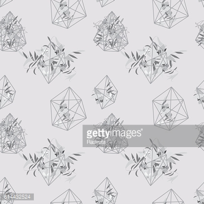 Illustration greeting hand-drawn lily floral background
