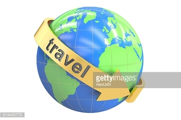 Travel Around the World concept, 3D rendering