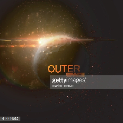 Outer Space. Abstract vector illustration