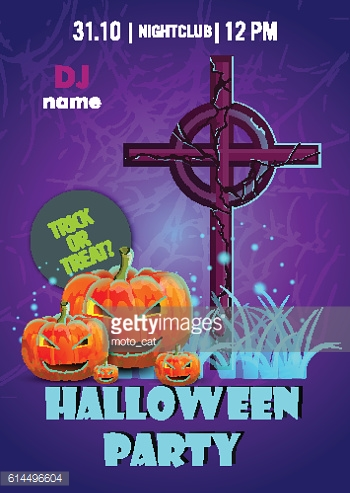 Halloween party poster.banner, flyer,Vector illustration