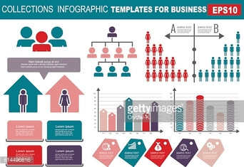 ollection of infographic people  elements for business.Vector il