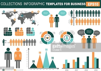 Collection of infographic people  elements for business.Vector i