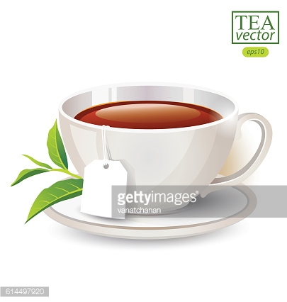Cup of tea isolated on white background. Vector illustration.