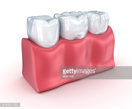Teeth on white background. Concept icon.