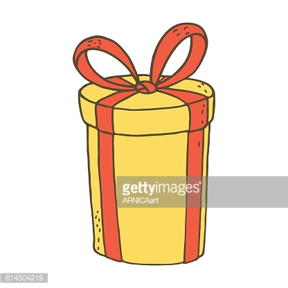 Gift box iconJingle bells with bow on a white background