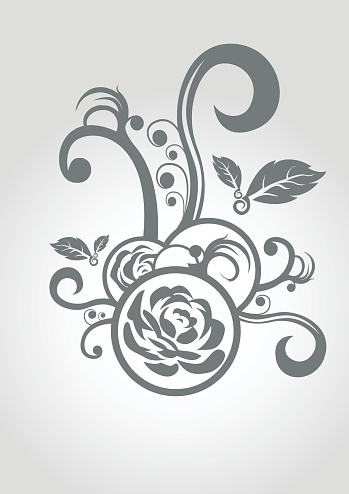 Rose Ornament Background