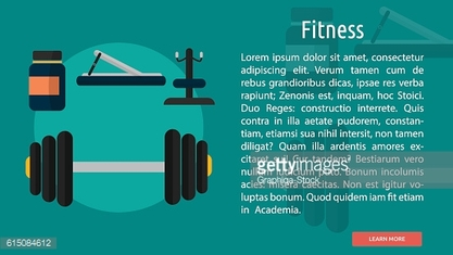 Fitnes Conceptual Banner