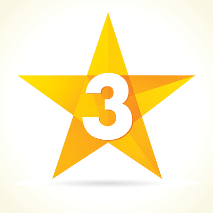 Number three star logo