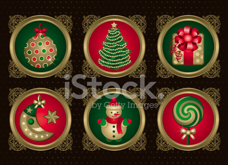 Christmas elements in Gold (set 1)