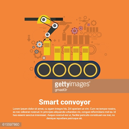 Smart Conveyor Industrial Automation Industry Production Web Banner