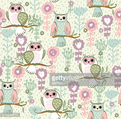 illustration with owl
