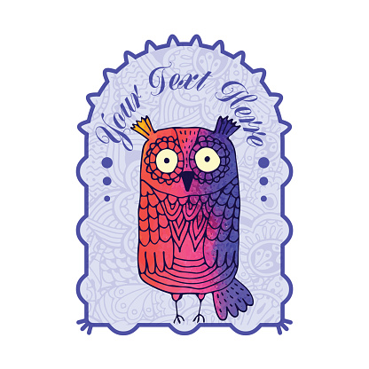 Owl graphic. Abstract