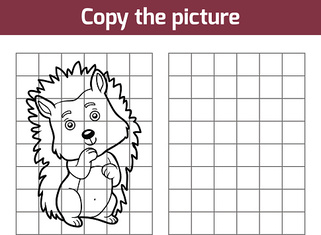 Copy the picture, Hedgehog