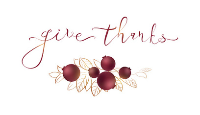 Words give thanks - Thanksgiving concept.
