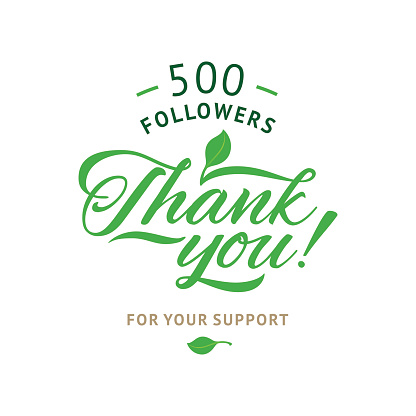 Thank you 5000 followers card. Vector ecology design template for