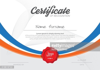 A4 Certificate Layout