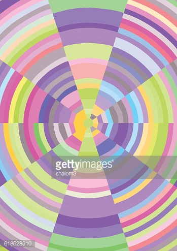 Cheerful abstract background with multicolored fragments in circle grid