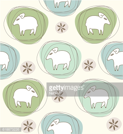 sheep in ovals