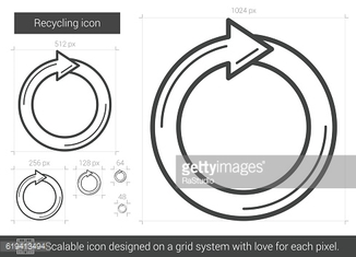 Recycling line icon.