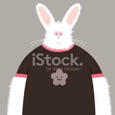 obey the bunny with smily flower tshirt