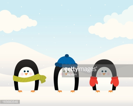Wintry Penguins