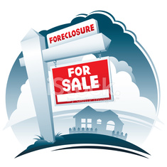 For Sale and Foreclosure Sign