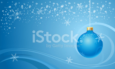 Christmas background with blue ball
