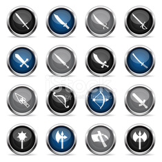 Supergloss Icons - Weapons