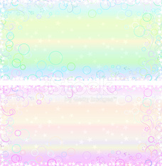 Light pastel greeting card backgrounds with fantasy frames