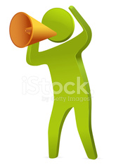 Businessman Speaking with megaphone