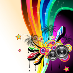 Colorful Discoteque Background for latin music event