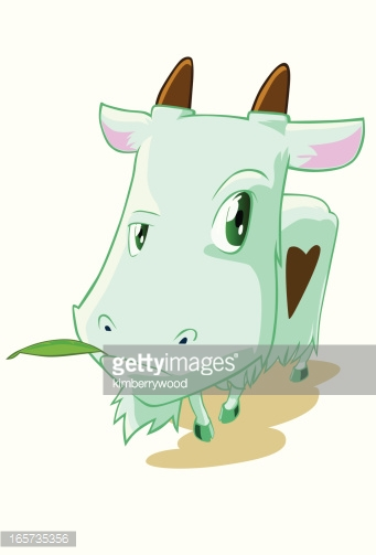Goat with Leaf