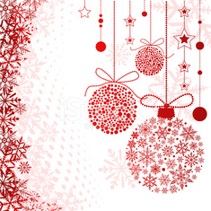 Red Snow Baubles