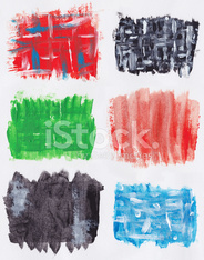 various paint on paper